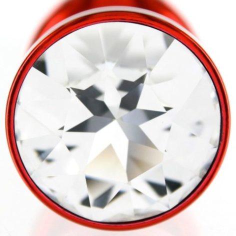 Анальная пробка со стразом Diogol ANNI round red 30мм