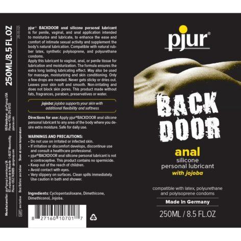 Анальная смазка на силиконовой основе pjur backdoor anal Relaxing jojoba silicone lubricant 250 мл