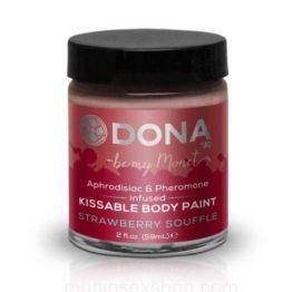 Краска для тела Dona Kissable Body Paint – STRAWBERRY SOUFFLE