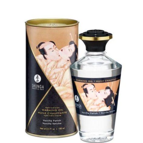 Разогревающее масло Shunga APHRODISIAC WARMING OIL – Vanilla Fetish (100 мл)